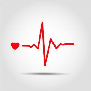 cuore battito illustrazione